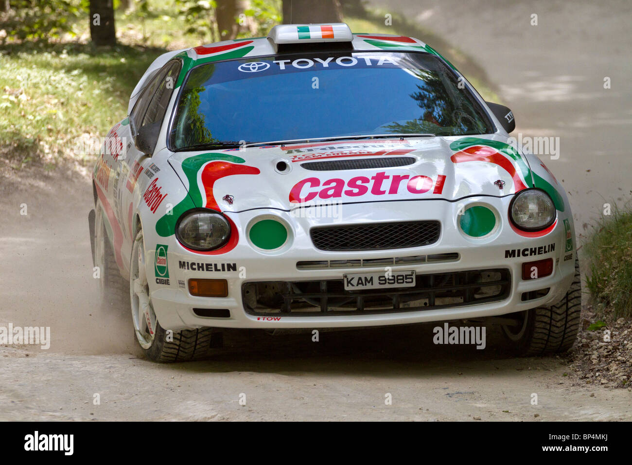 1995 Toyota Celica GT-Four ST205 rally car with driver Mark Courtney ...