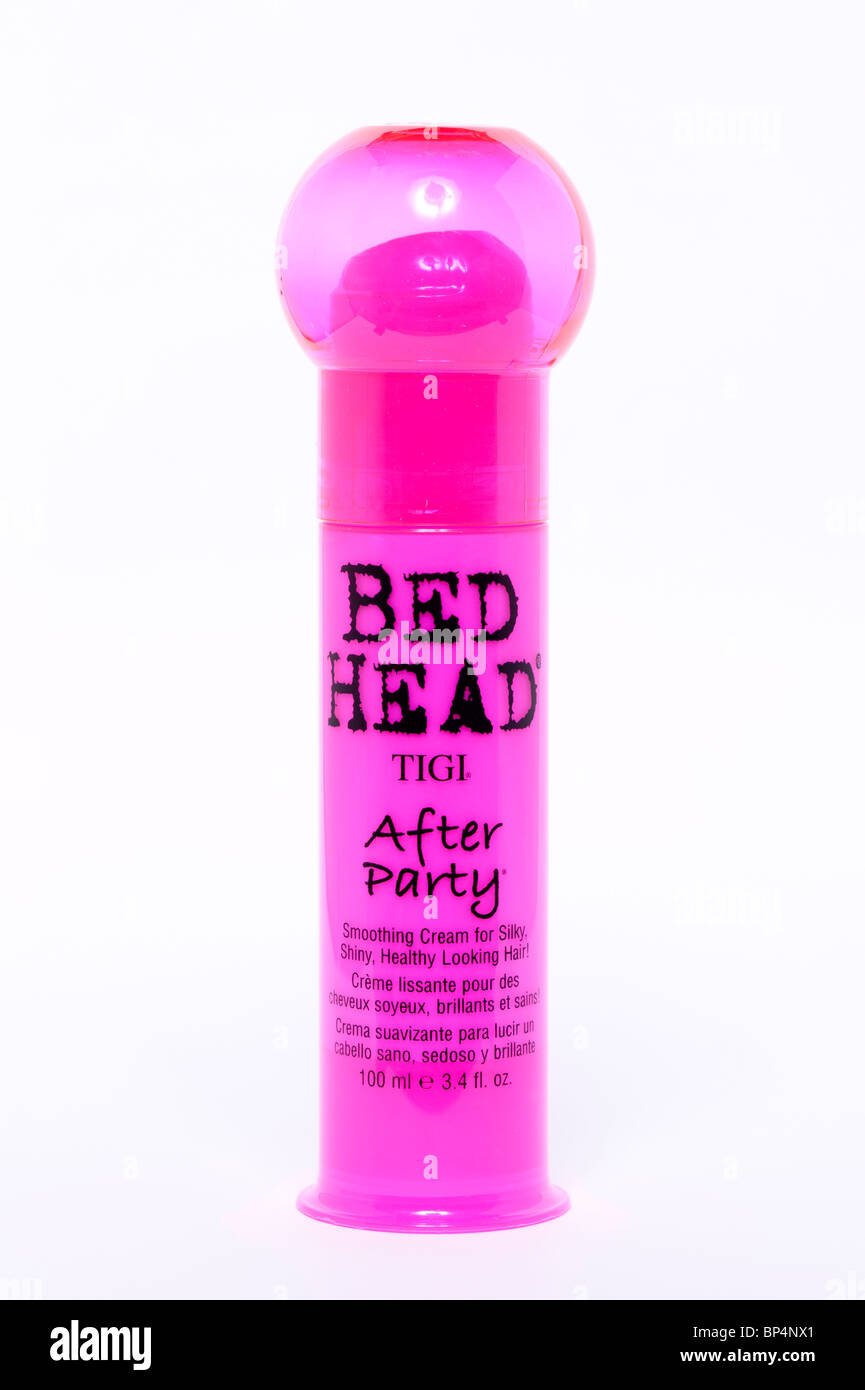 A cut out of a bottle of Tigi Bed Head After Party hair product on a white background - Stock Image