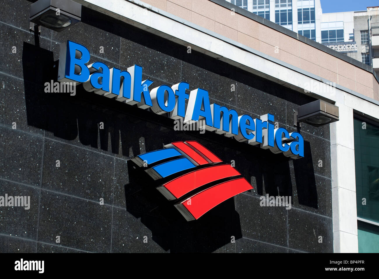 Bank of America branch in downtown Seattle, Washington, USA. - Stock Image