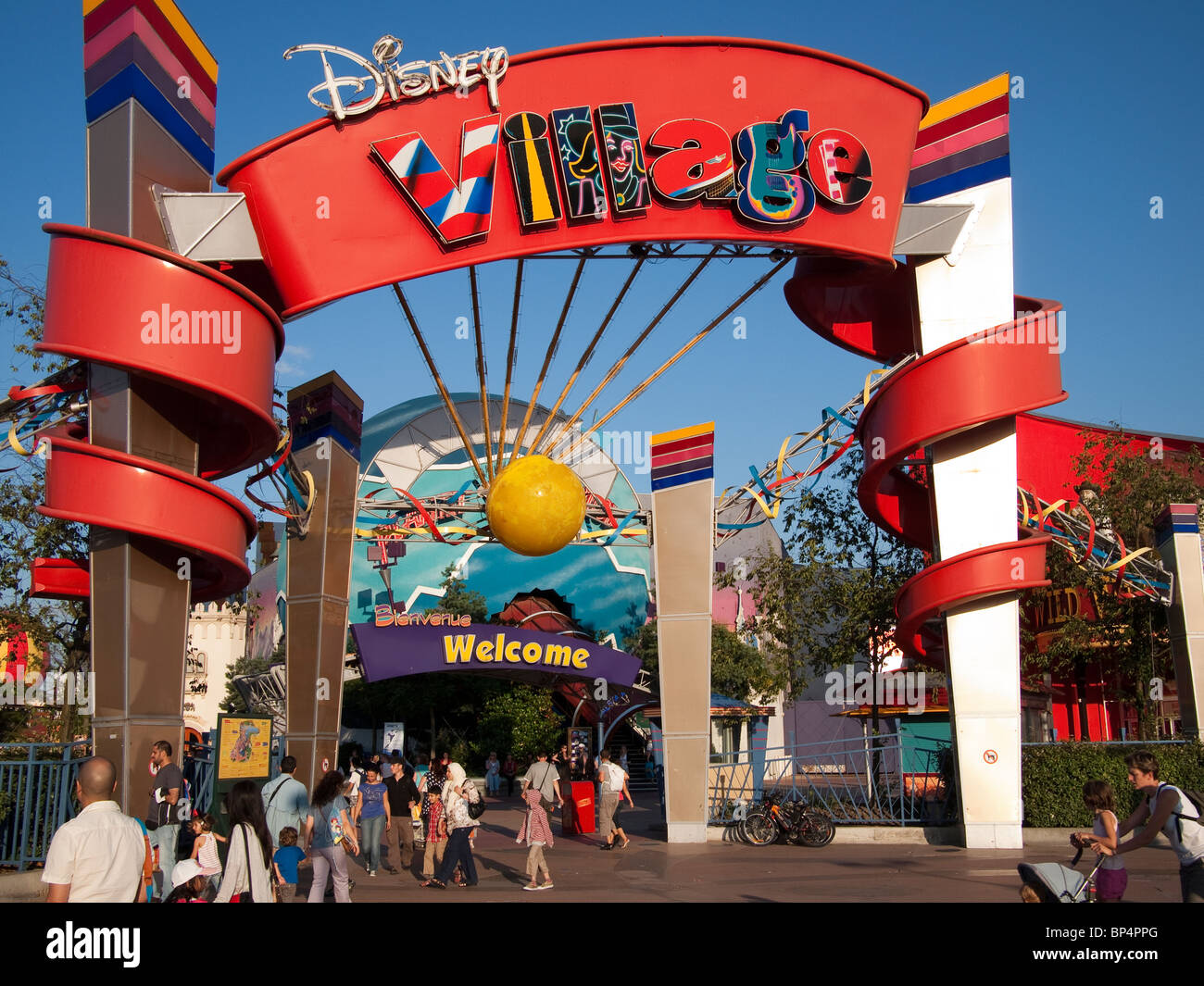 disney village disneyland paris stock photo 30838488 alamy. Black Bedroom Furniture Sets. Home Design Ideas