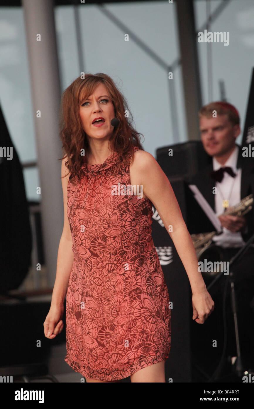 Therese Karlsson soprano Voices for the Baltic (röster för östersjön) Andersudde Aland Finland - Stock Image
