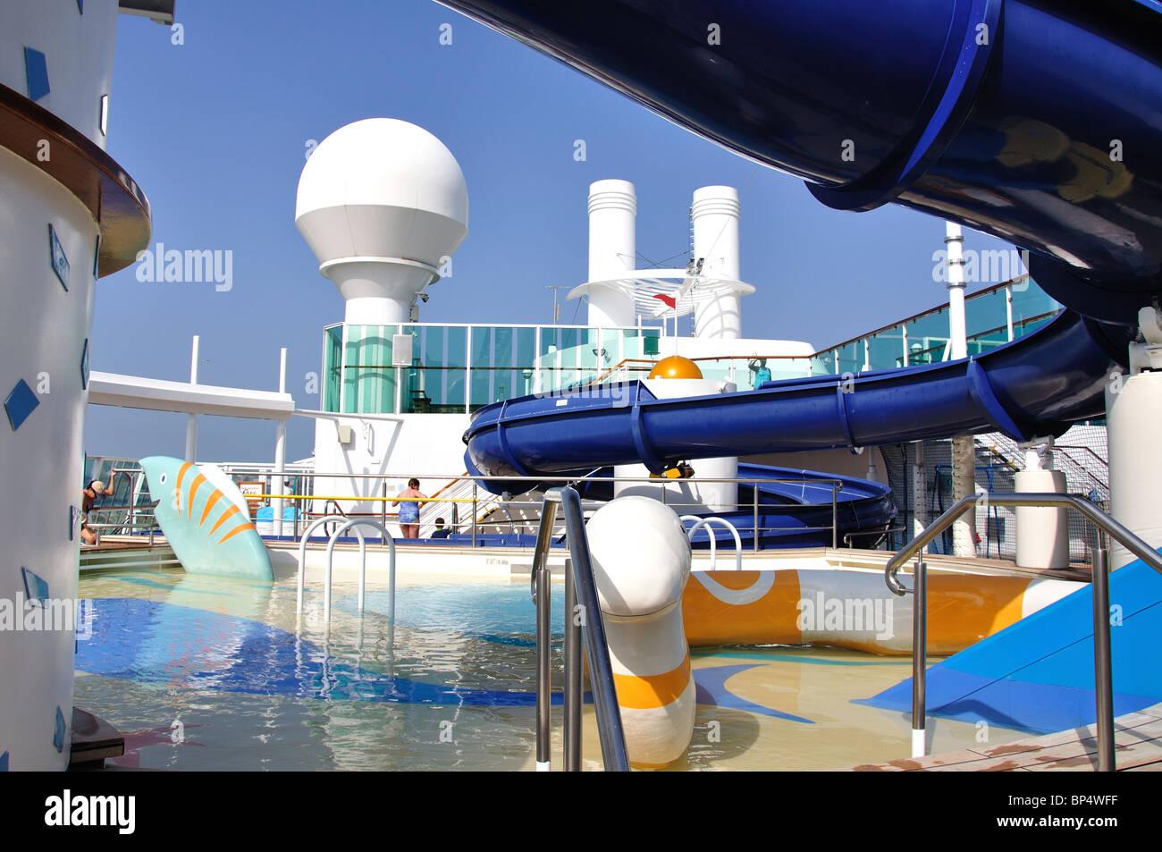 Children's pool, Royal Caribbean Cruises 'Jewel of the Seas' Cruise Ship, Baltic Sea, Europe - Stock Image