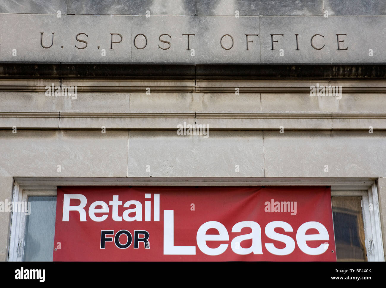 A former United States Post Office location that is for lease.  - Stock Image