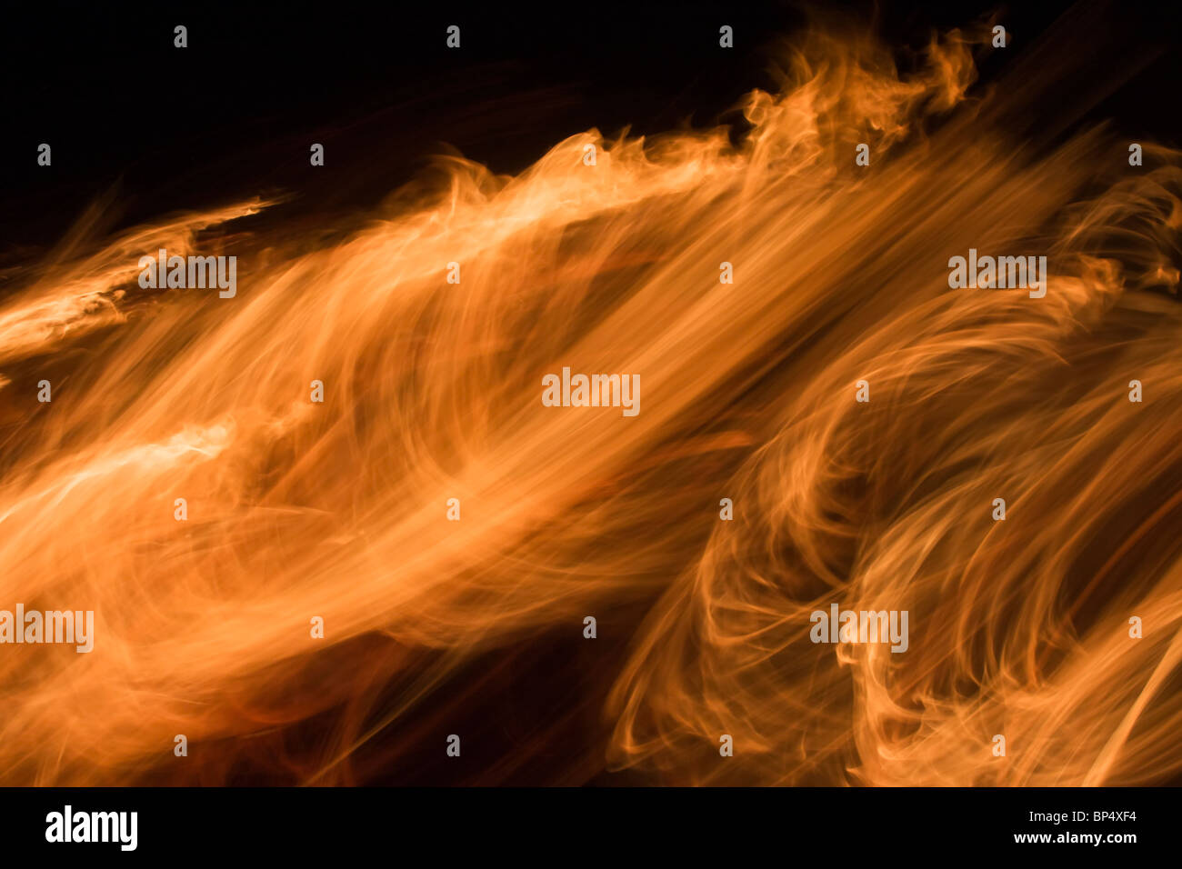 Blur of the blazing fire. - Stock Image
