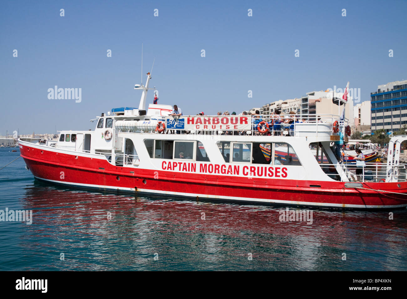 Captain Morgan Cruises on the seafront at Sliema, Malta, Europe - Stock Image