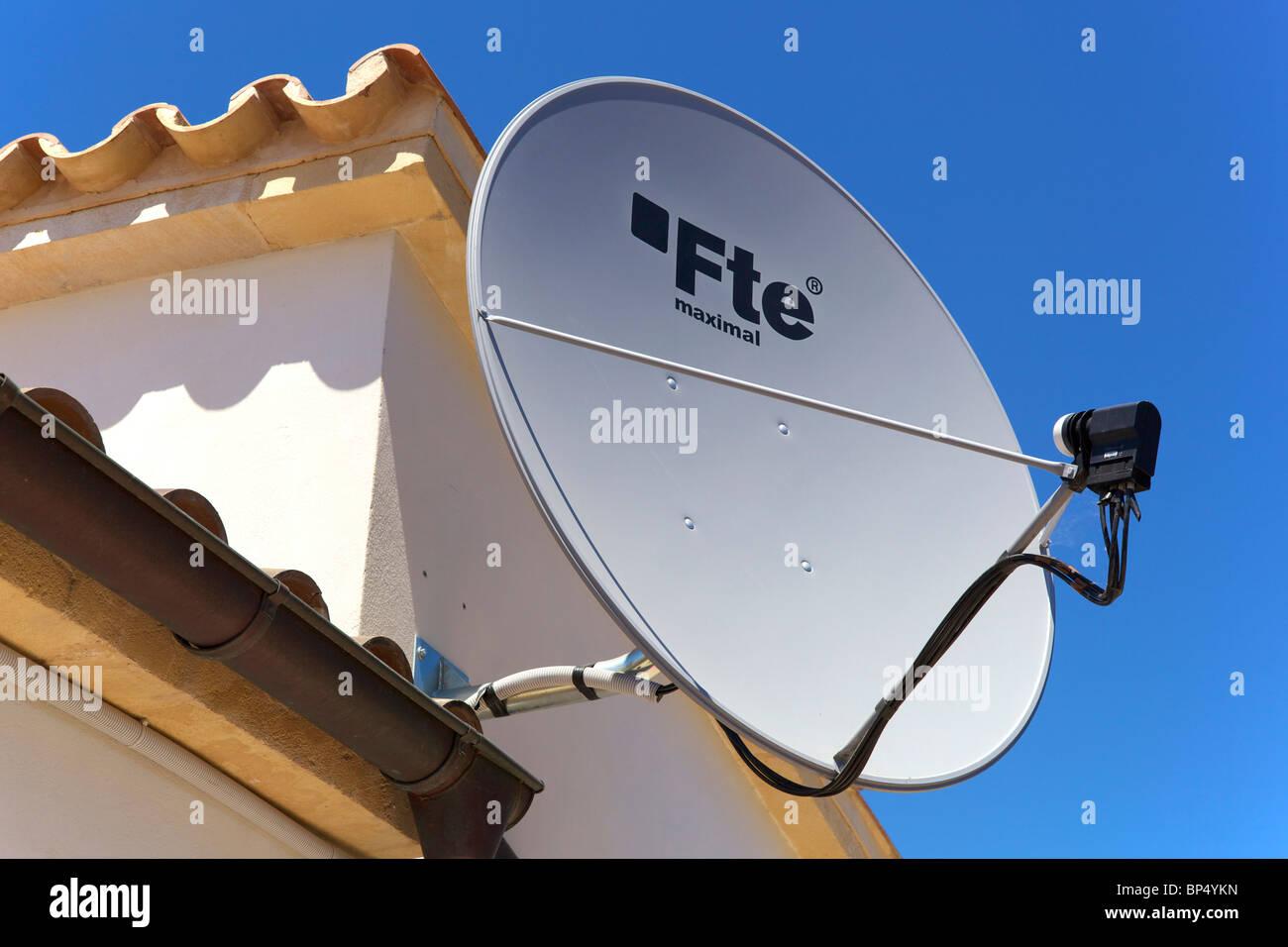 A satellite dish Stock Photo