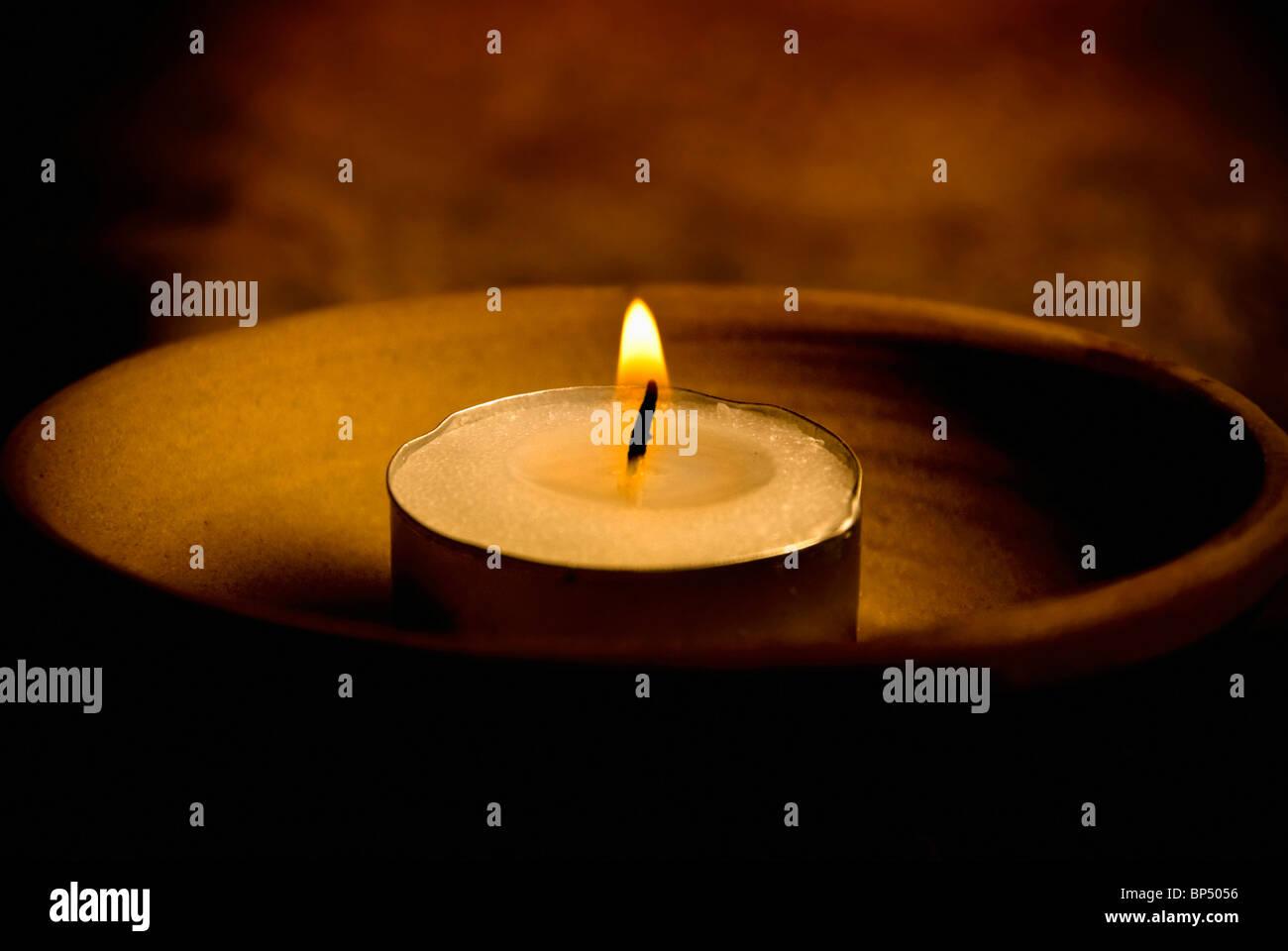 candle for magic ritual - Stock Image