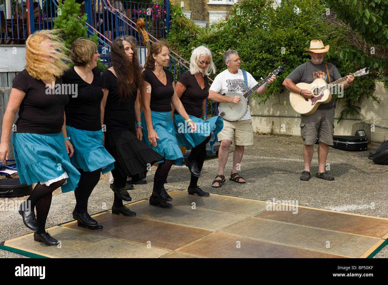 Folk Dancers at the Broadstairs Folk Festival - Stock Image