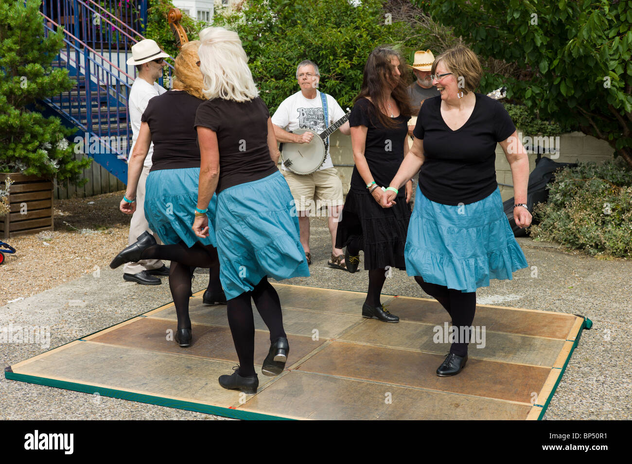Folk Dancers at the Broadstairs Folk Festival - Stock Image