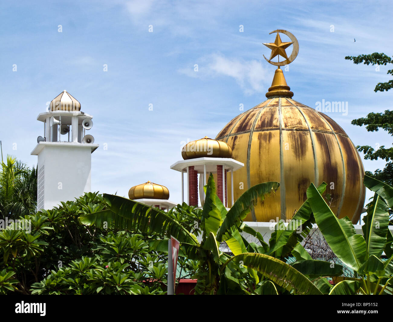 Sabah state Mosque in Kota Kinabalu Sabah largest domed roof in Malaysia - Stock Image
