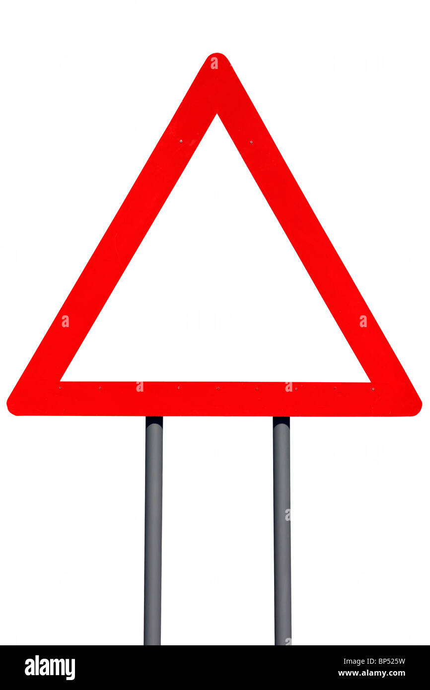 Add your notice to this Empty Road Sign - Isolated - Stock Image