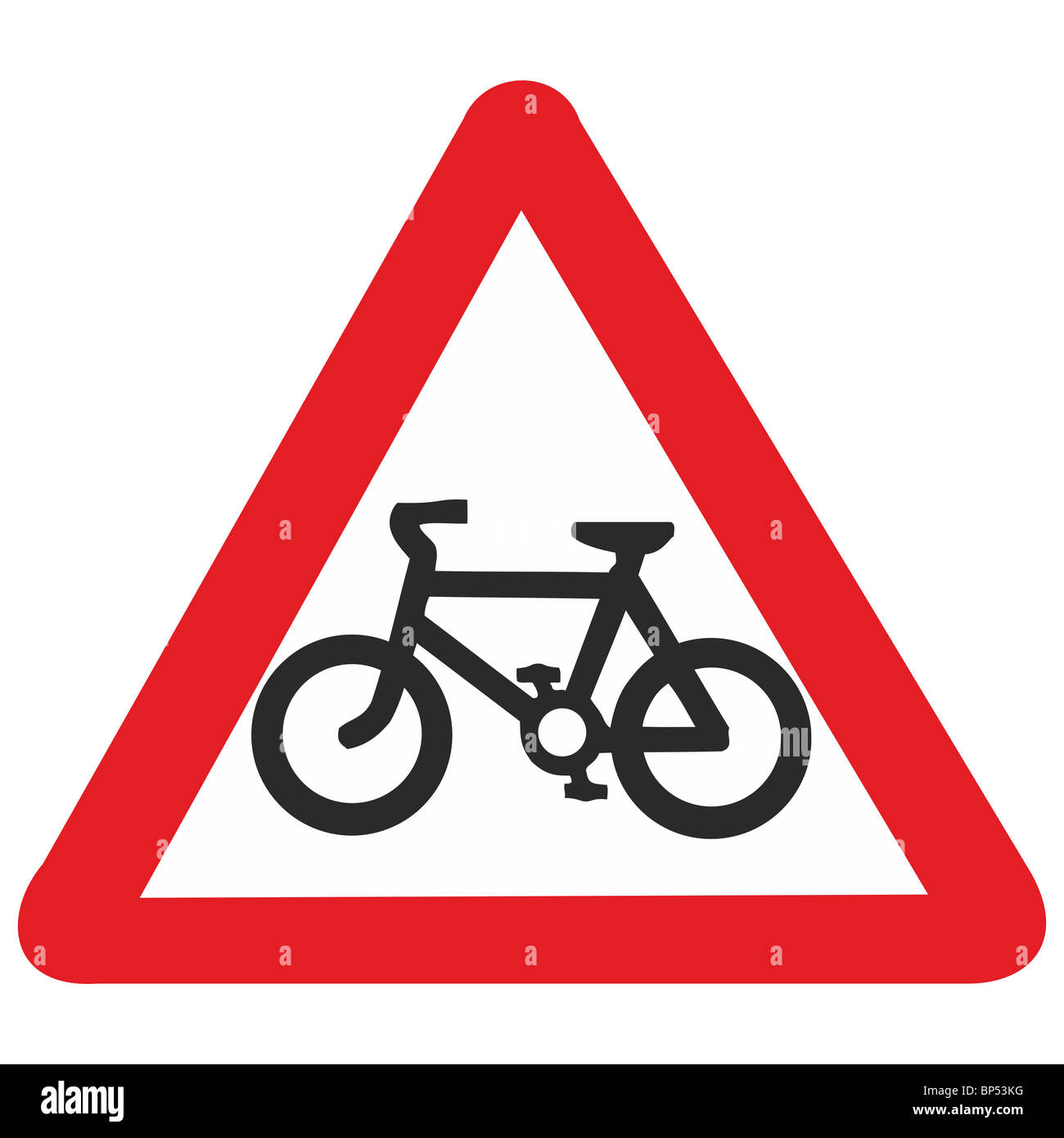 uk road sign cycle route path lane cyclists bike ahead ...