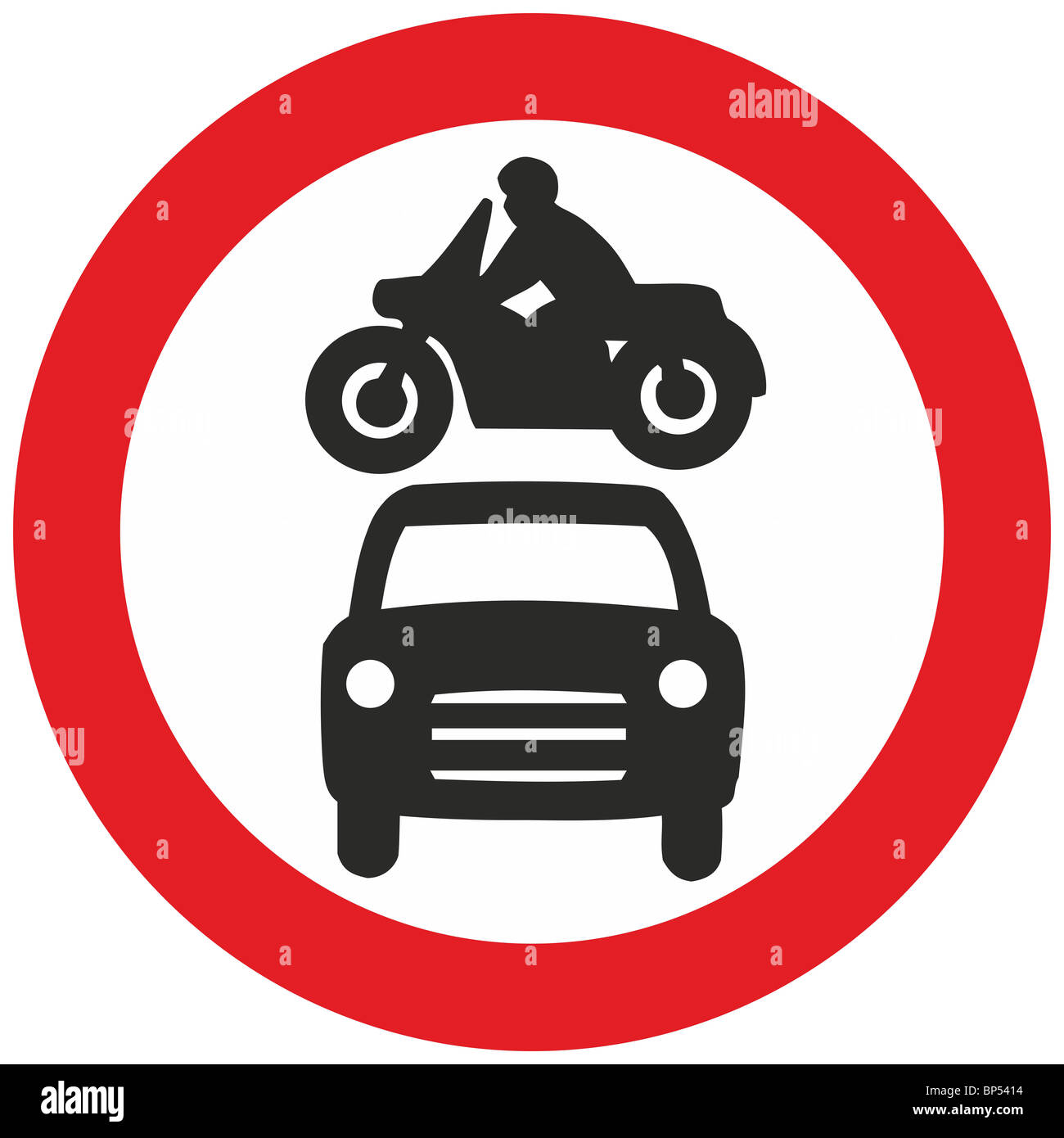Uk Road Sign Private Vehicles Prohibited Car Motorcycle