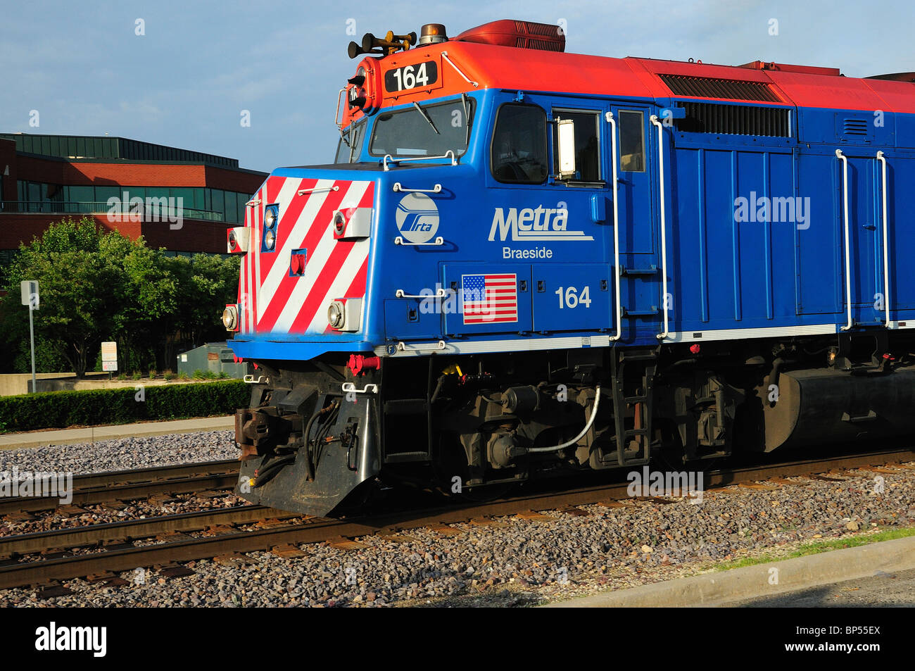 Chicago Metra Commuter Train Engine - Stock Image