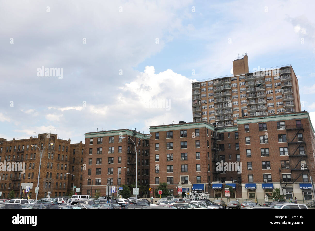 Brighton Beach Apartments And Parking, Brooklyn, New York, USA