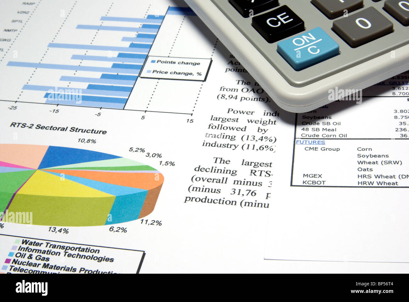 calculator and finance diagrams