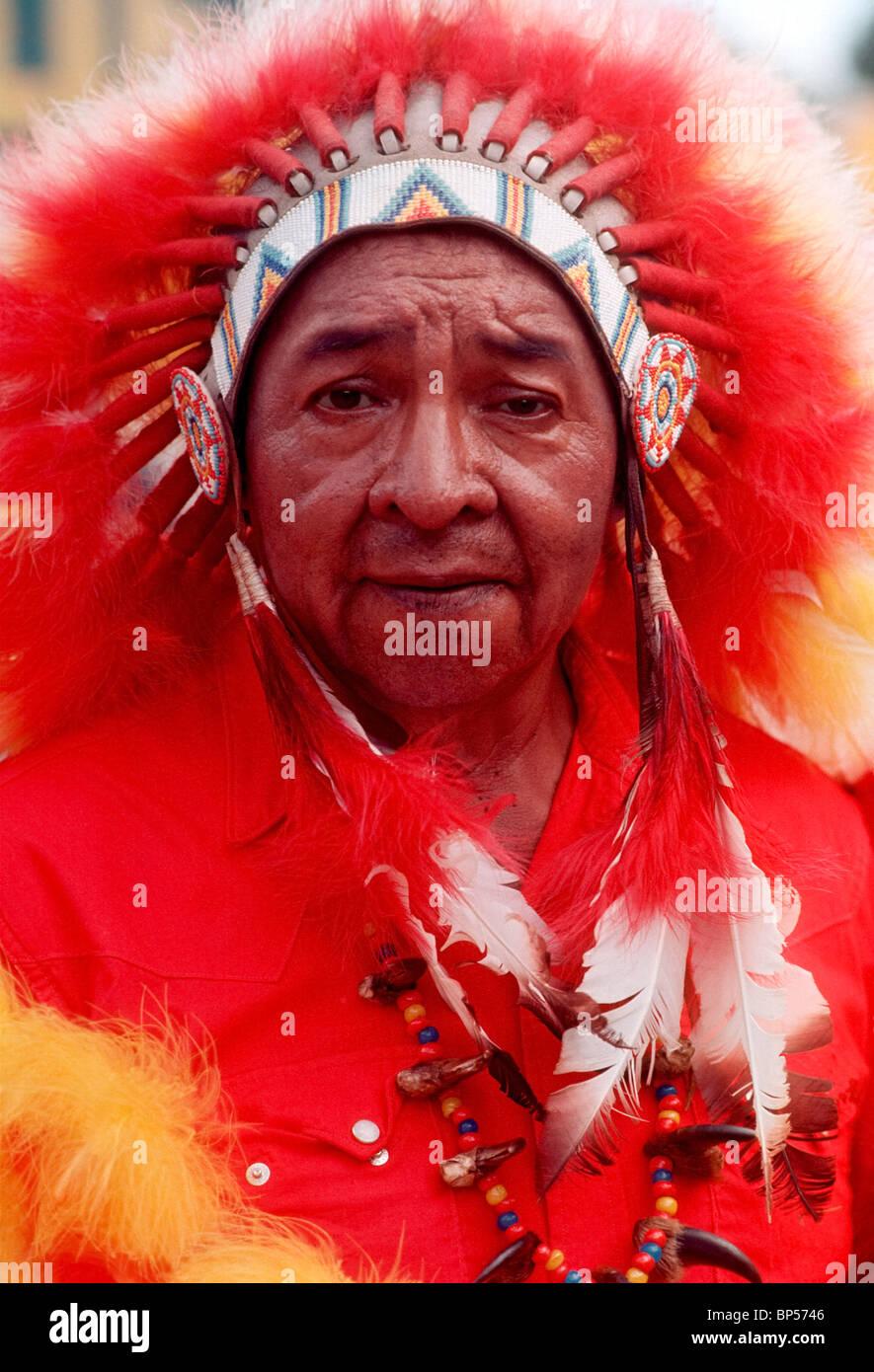 portrait of Cherokee man North Carolina - Stock Image