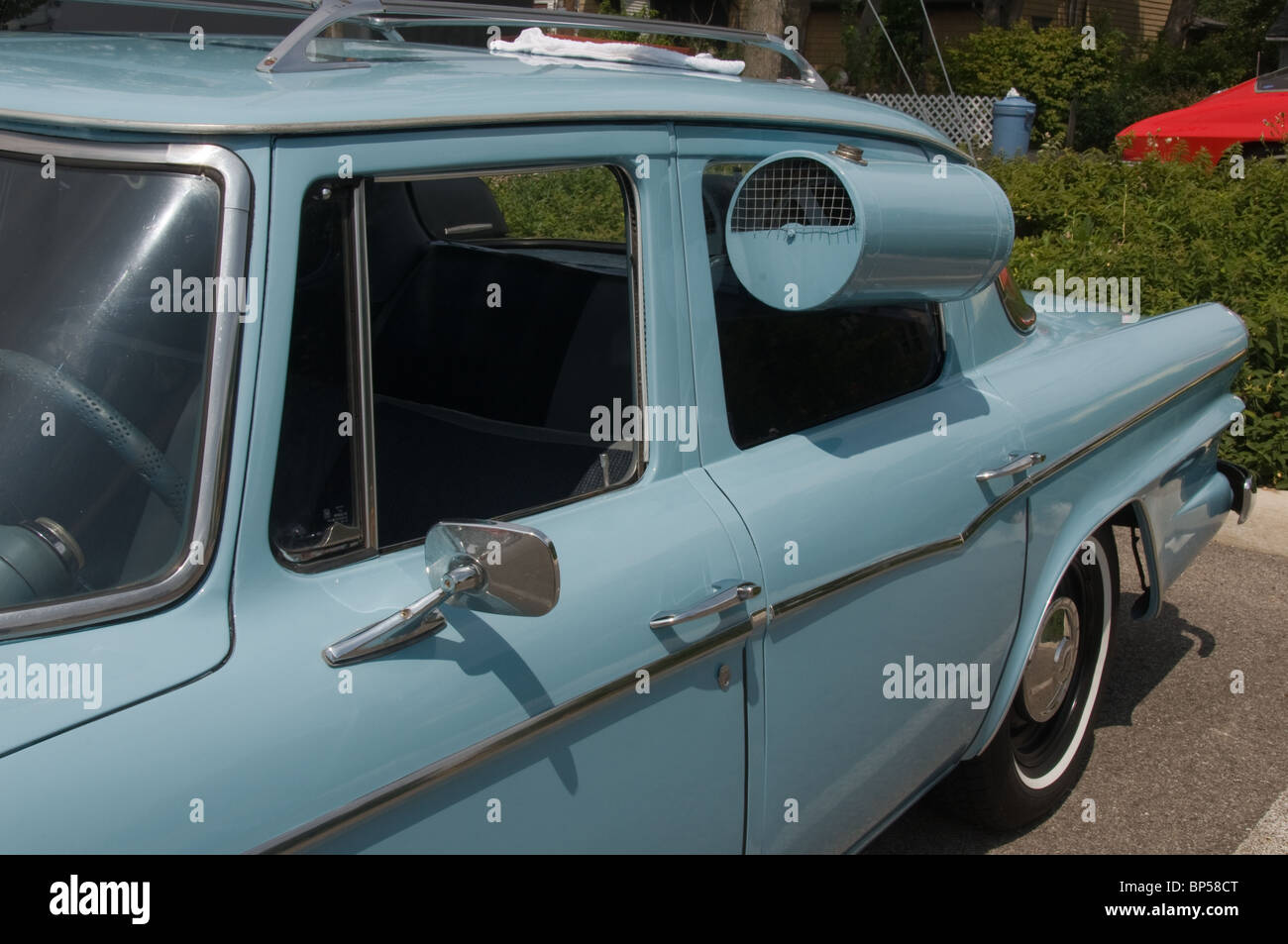 Outside the car air conditioner - Stock Image