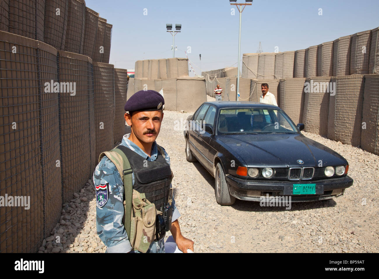 Checkpoint outside of Mosul, Iraq - Stock Image