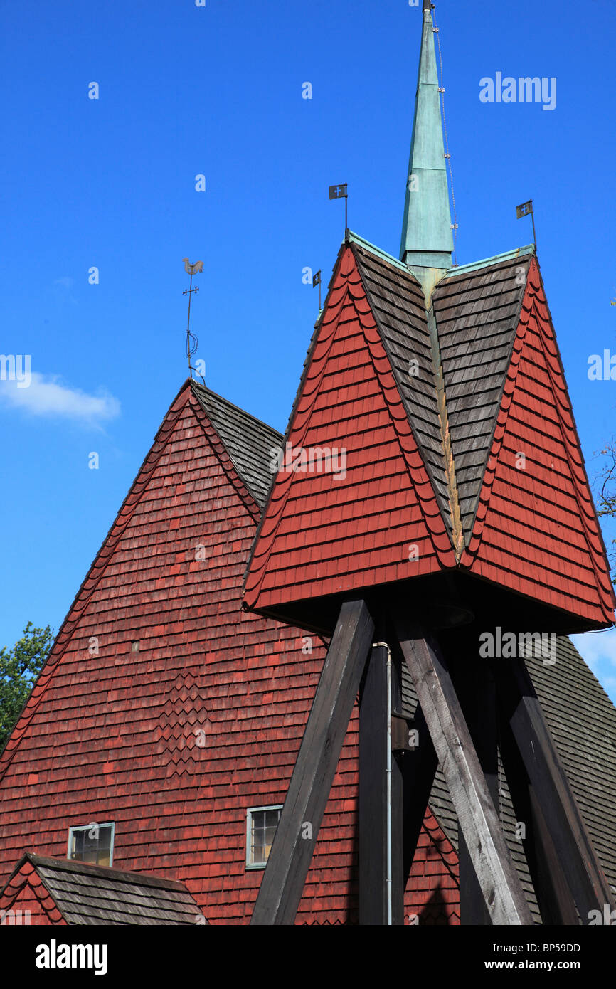 Sweden, Lund, Kulturen Museum, traditional architecture, - Stock Image