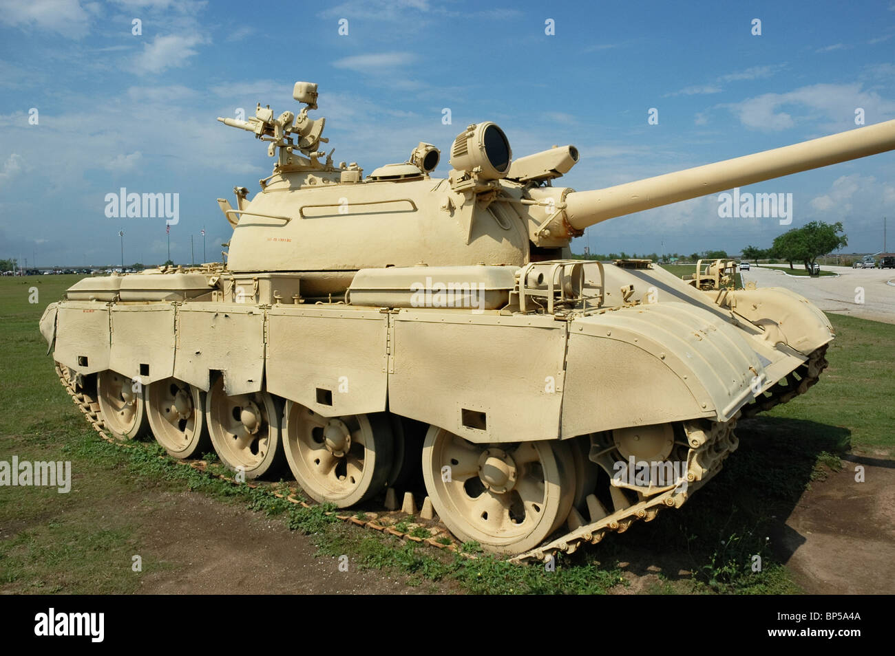 USS Alabama Battleship Memorial Park Mobile Alabama Soviet T-55 tank used by Iraqi army to invade Kuwait Operation - Stock Image