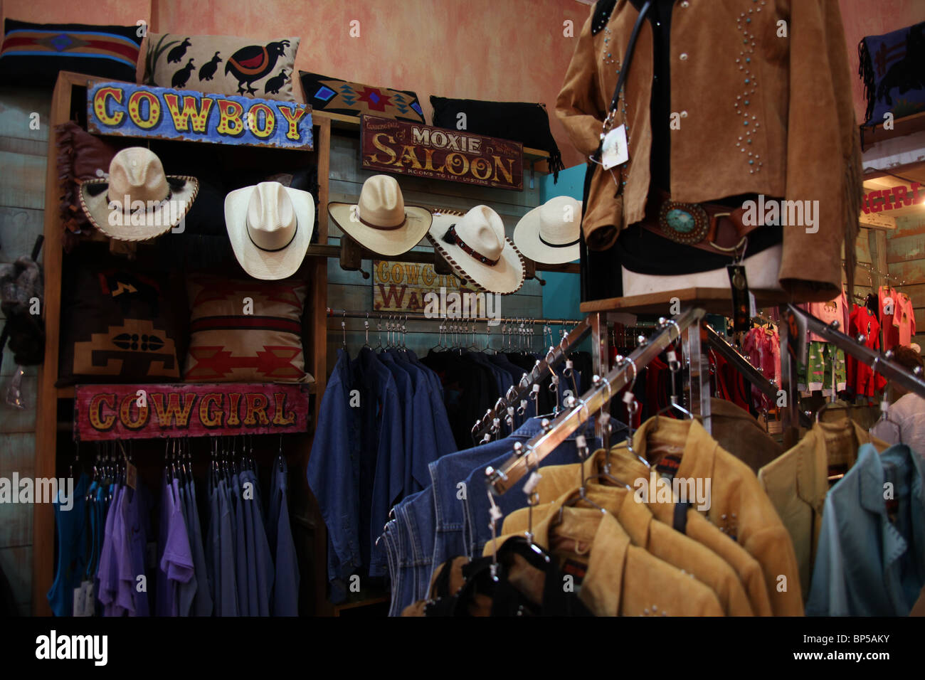 Cowboy And Cowgirl Western Clothing Shop In Santa Fe New
