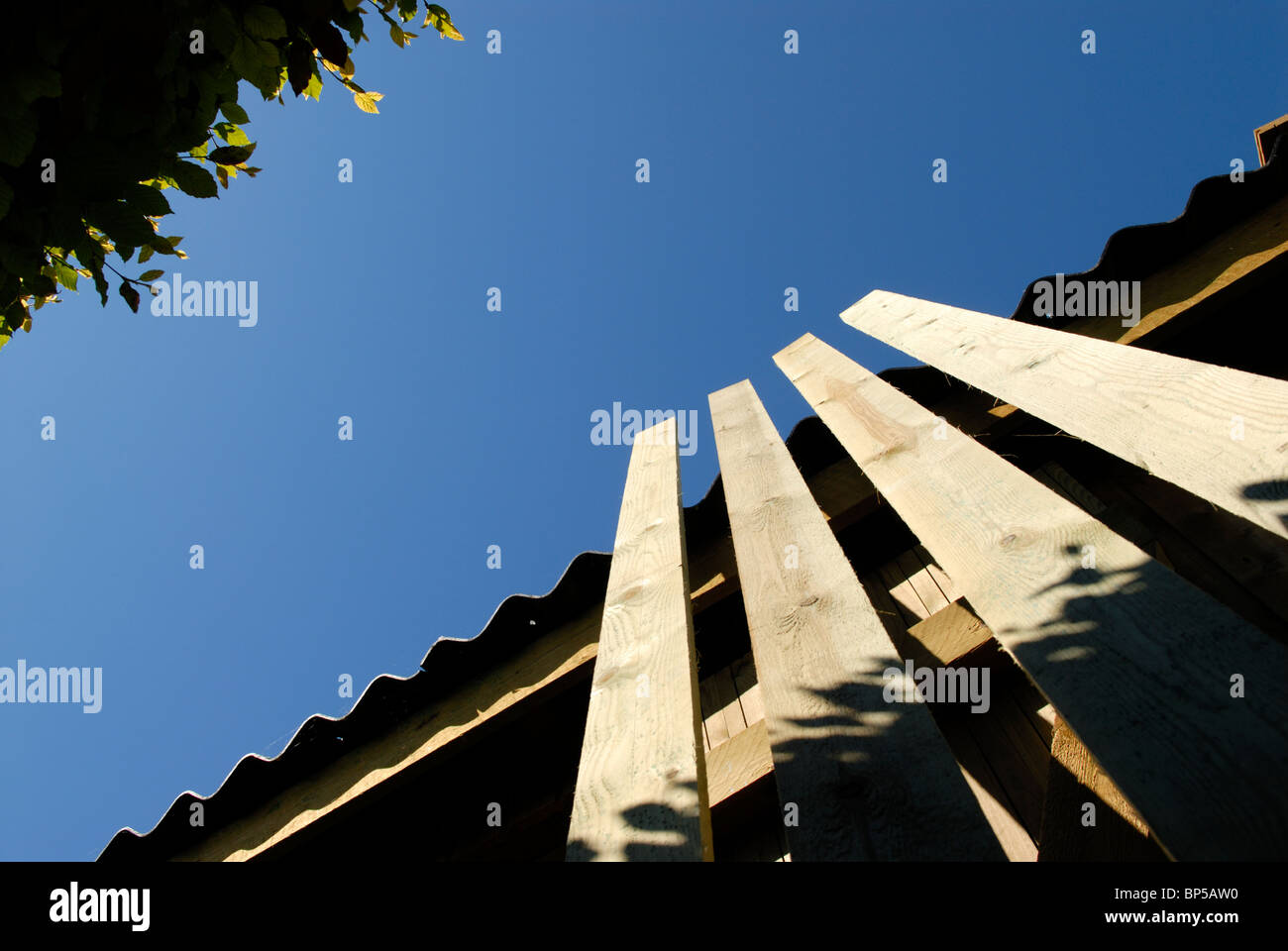 FOUR PLANKS - Stock Image