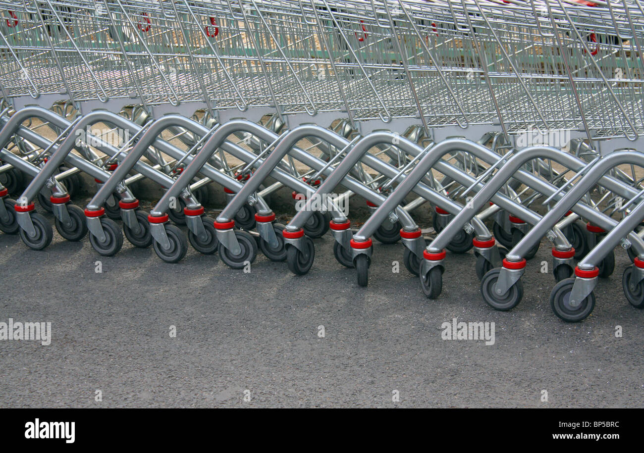 shopping carts - Stock Image