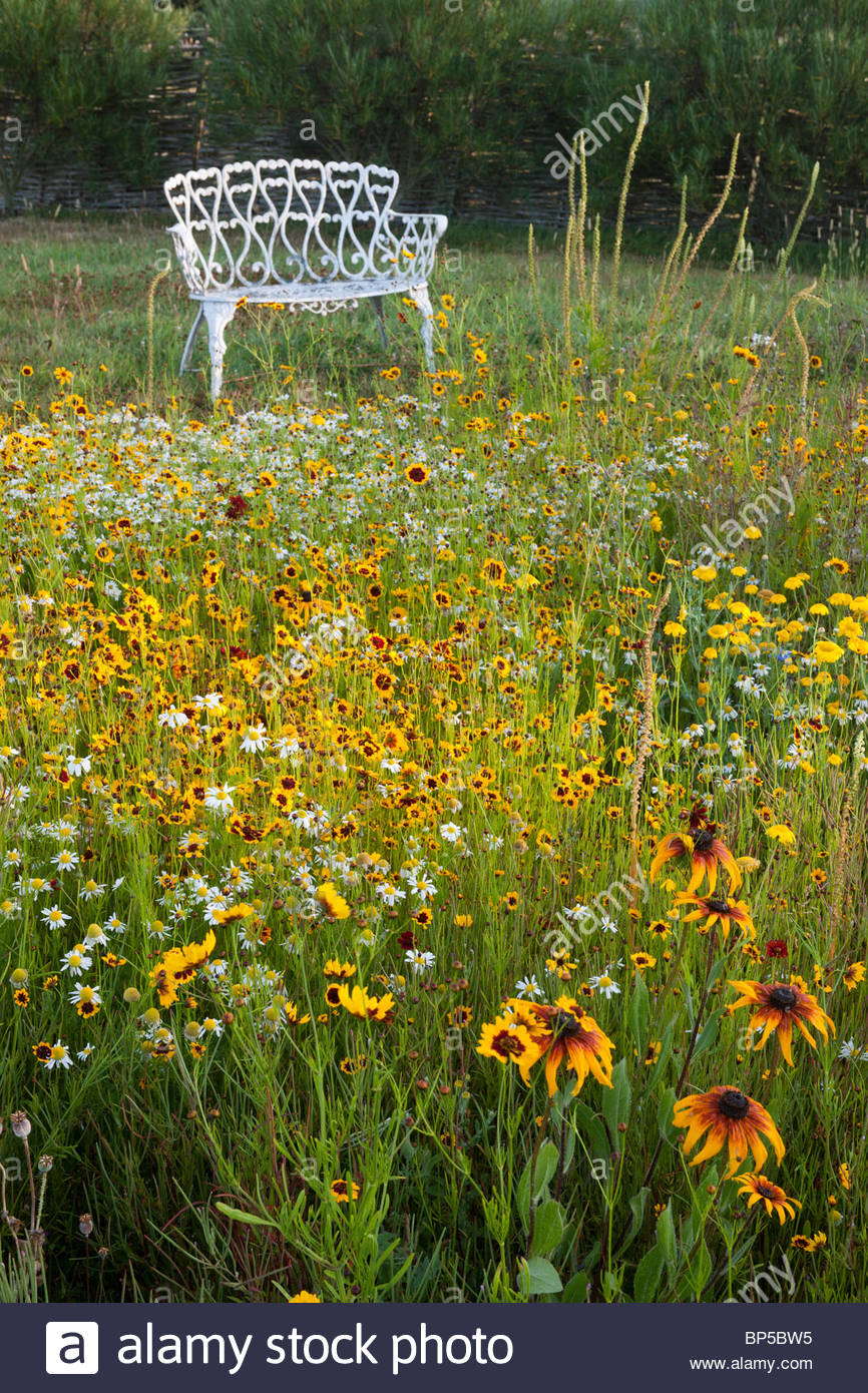 The Oast House Sussex Pictorial meadow - Stock Image