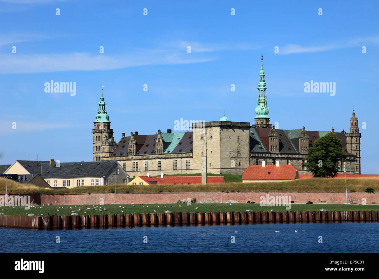 Denmark, Zealand, Helsingor, Kronborg Castle, - Stock Image