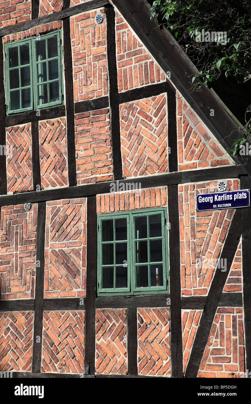 Sweden, Lund, Kulturen Museum, traditional architecture detail, - Stock Image