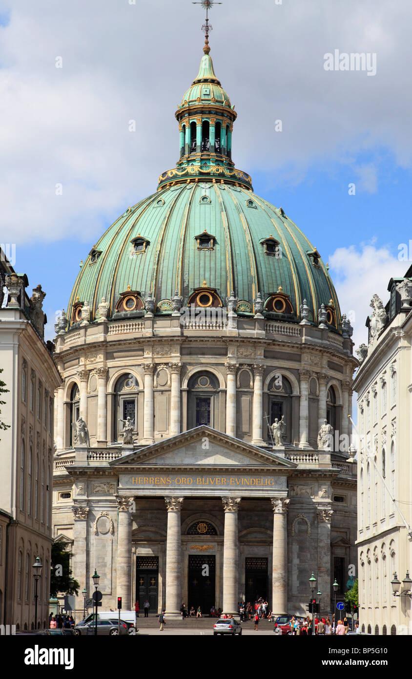 Denmark, Copenhagen, Marble Church, - Stock Image