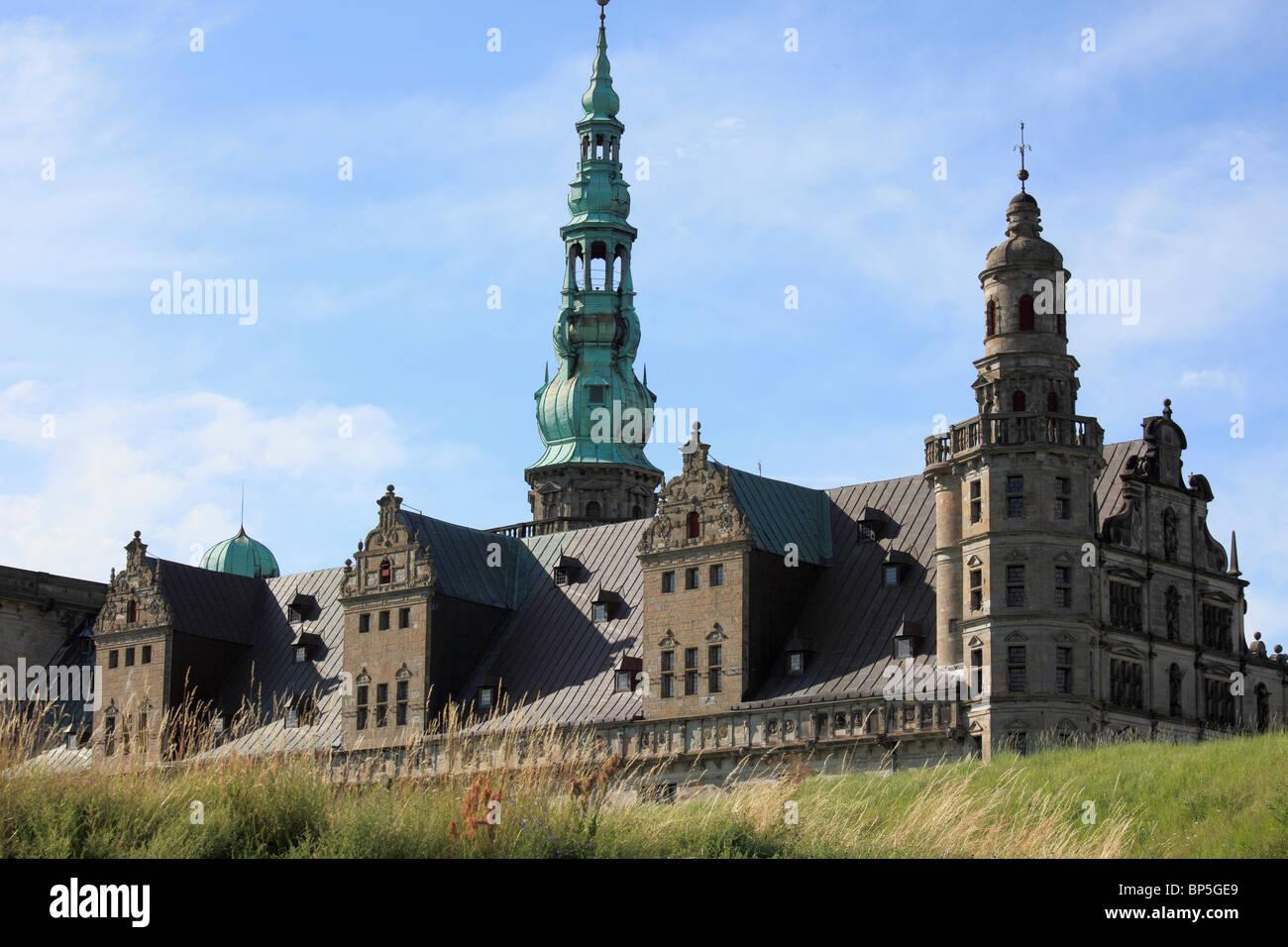 Denmark, Zealand, Helsingor, Kronborg Castle, Stock Photo