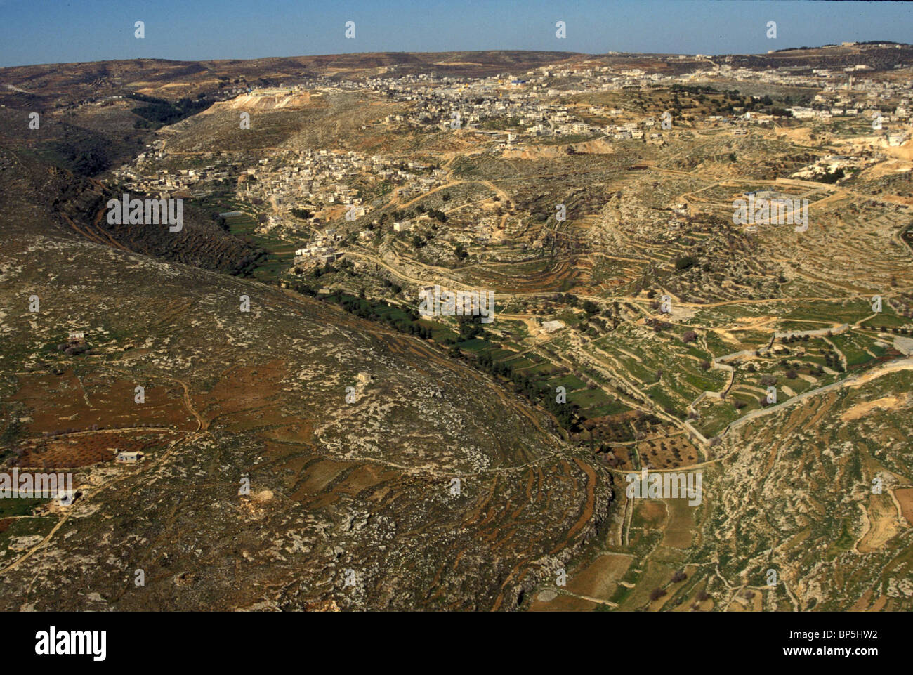 3338. ANCIENT AGRICULTURAL TERRACES IN THE JUDEAN HILLS - Stock Image