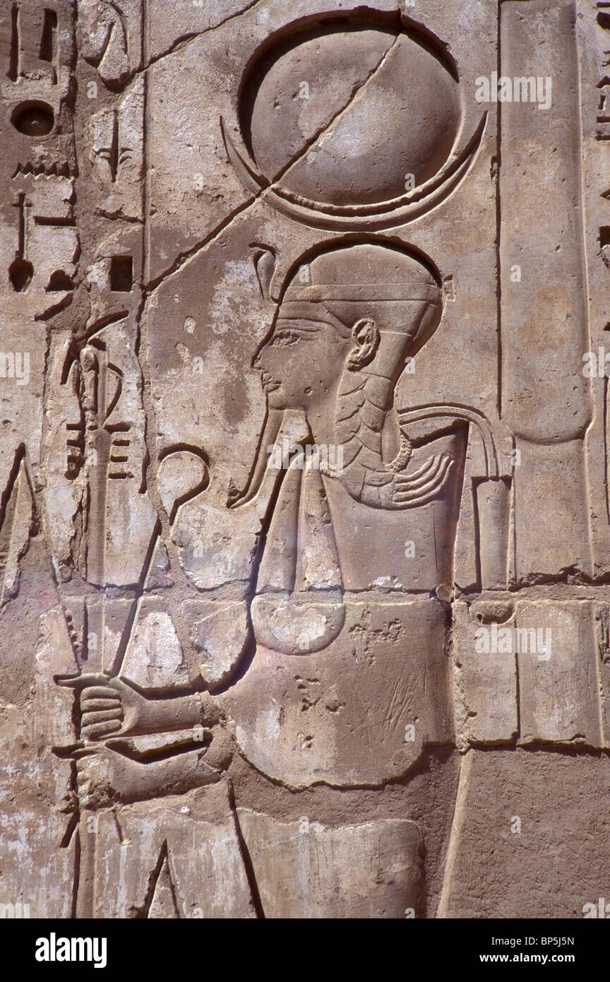 3592. KHONSU - HUMAN HEADED MOON GOD, THE SON OF AMON AND MUT - Stock Image