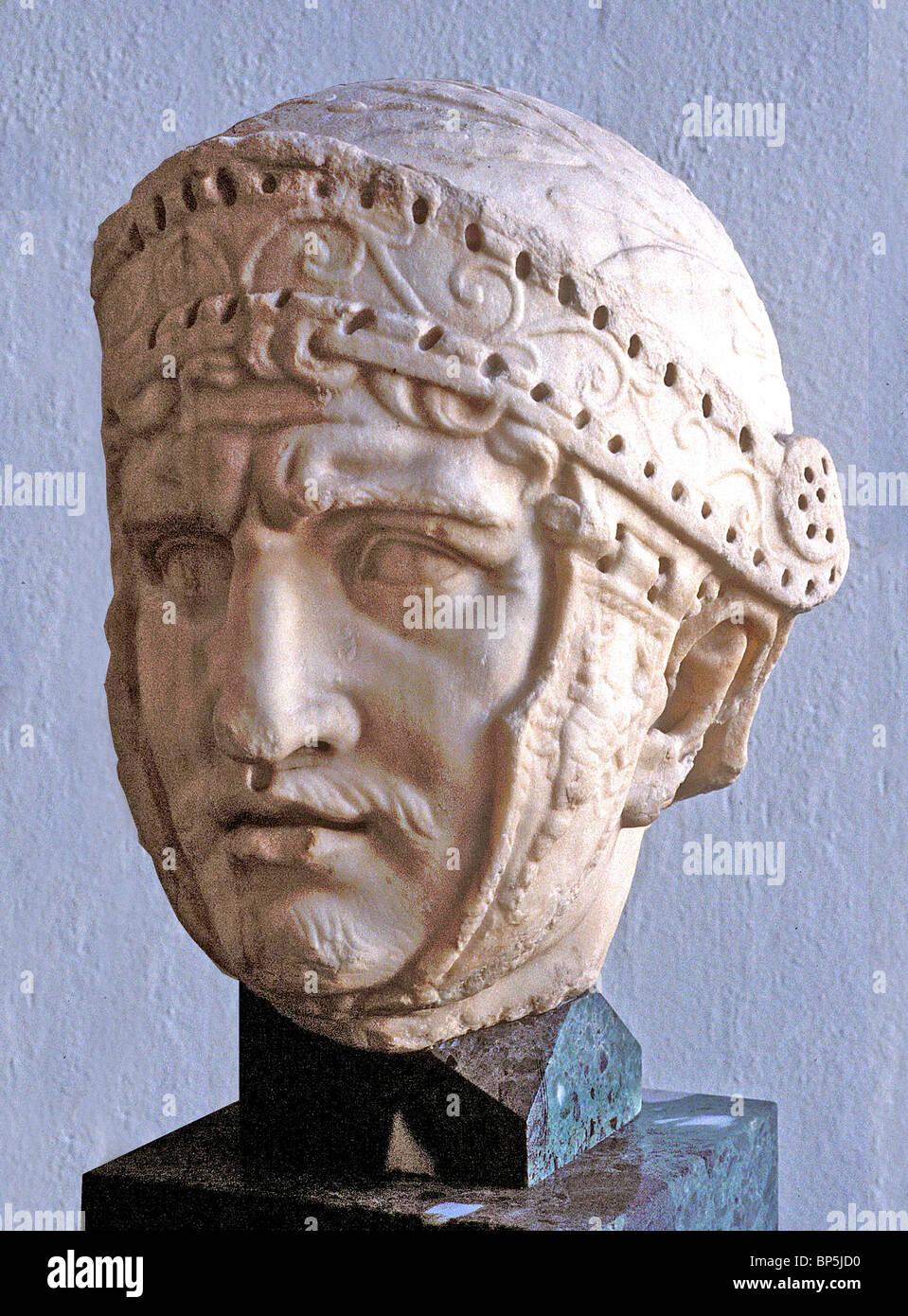 3761. ROMAN SOLDIER WITH HELMET - Stock Image