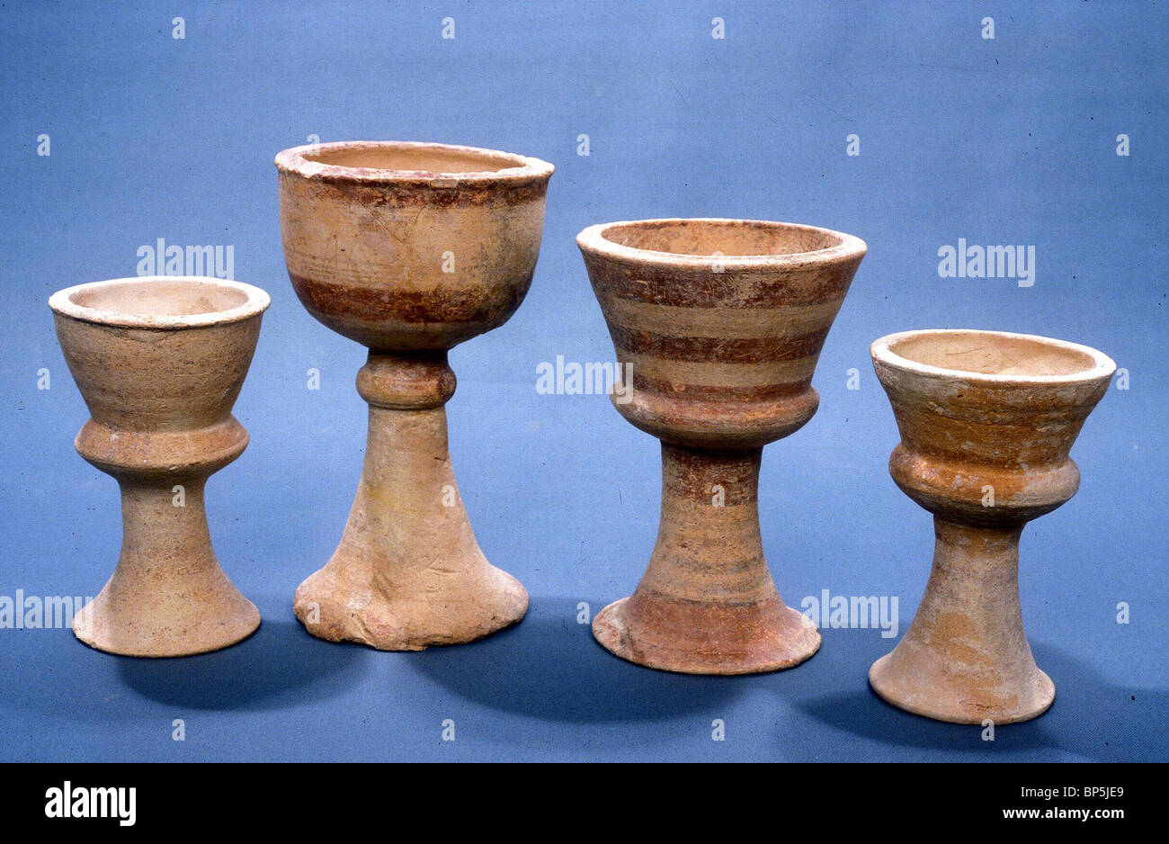 3811. CNAANITE CULT VESSELS, C.12-10TH. C. BC - Stock Image