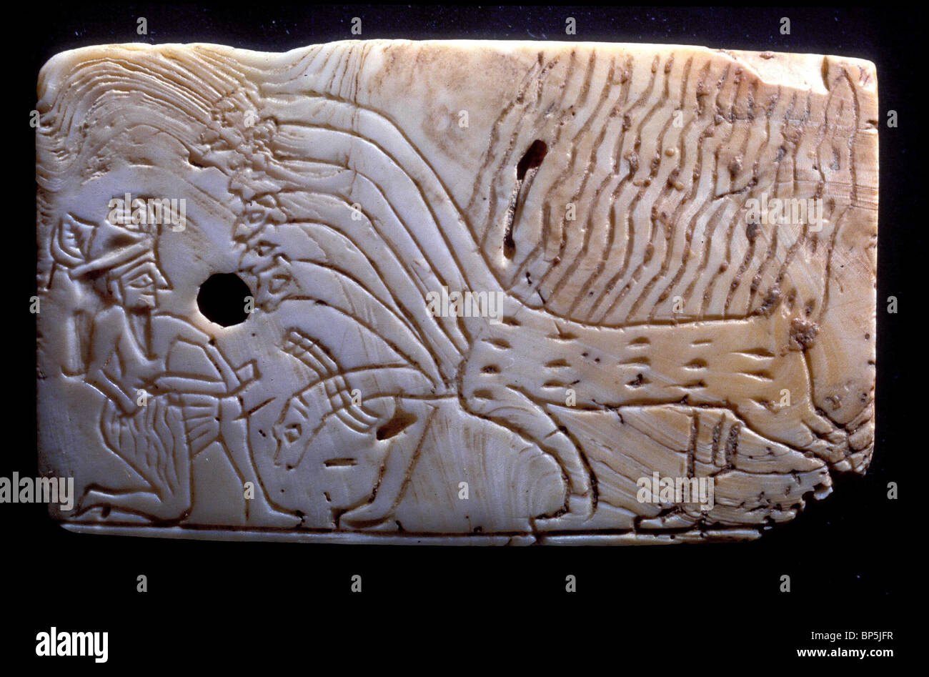 As early as Sumerian times the image of a flaming monster with seven serpent heads appears in the near east. On - Stock Image
