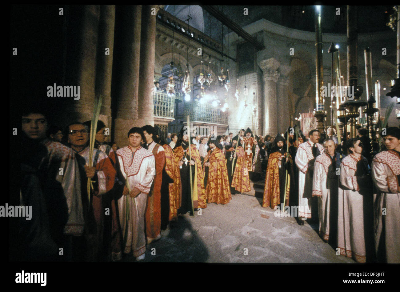 3986. CELEBRATIONS OF LENT AT EASTER BY THE ARMENIAN PATRIARCH IN THE CHURCH OF THE HOLY SEPULCHER - Stock Image