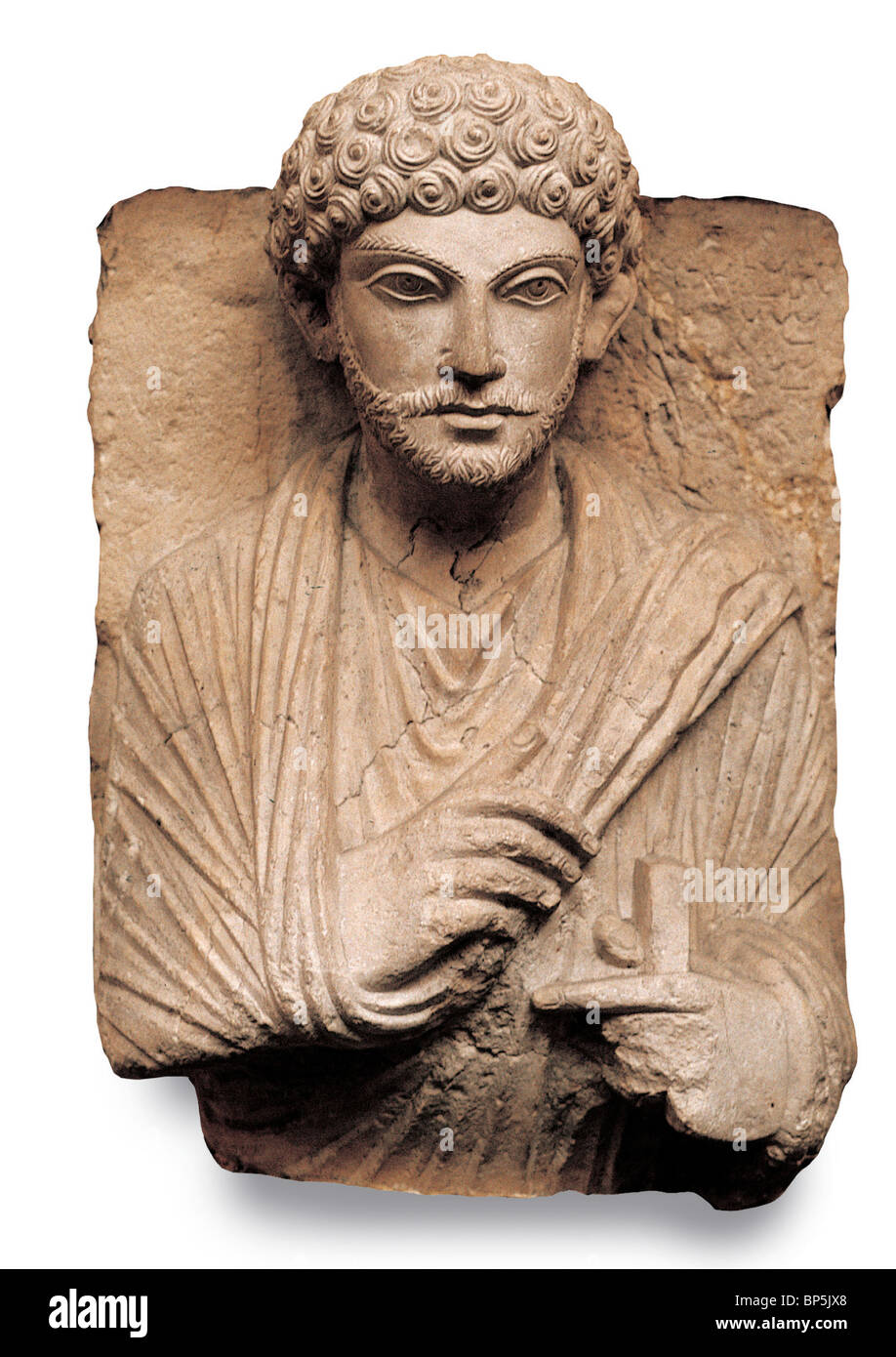 4334. ROMAN PERIOD FUNERARY BUSTS FROM TOMBS IN PALMYRA, DEPICTING THE DECEASED IN THEIR BEST COSTUMES. - Stock Image