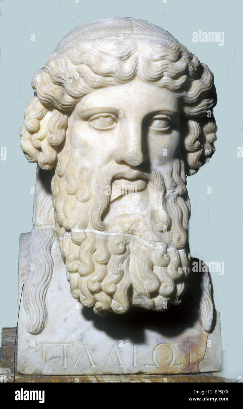 4340. PLATO ancient Greek philosopher, 428-348 BC, - Stock Image