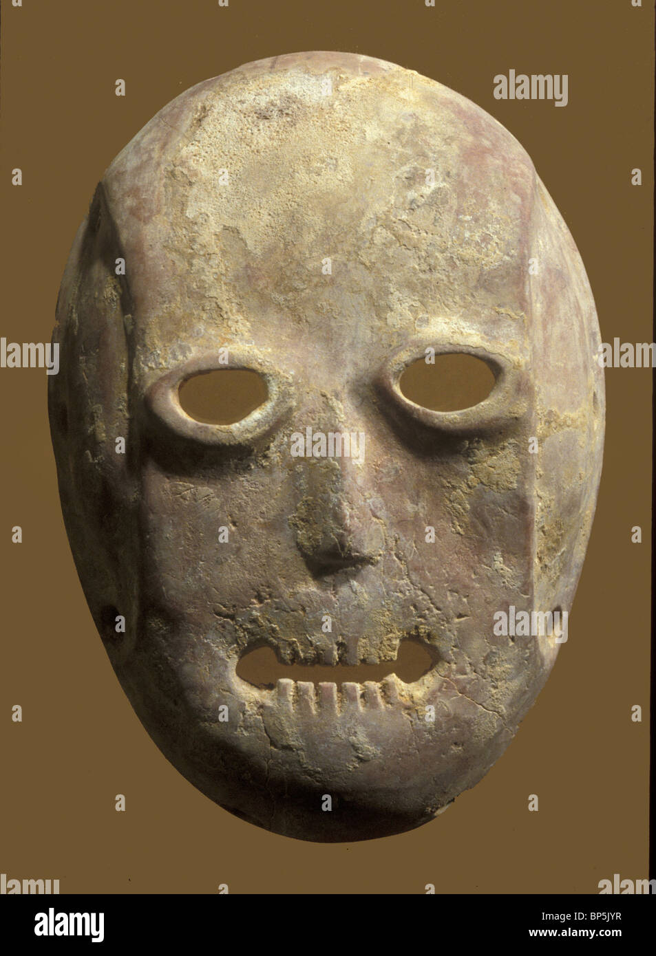 4376. NEOLITHIC PERIOD STONE CARVED CULT MASK - Stock Image