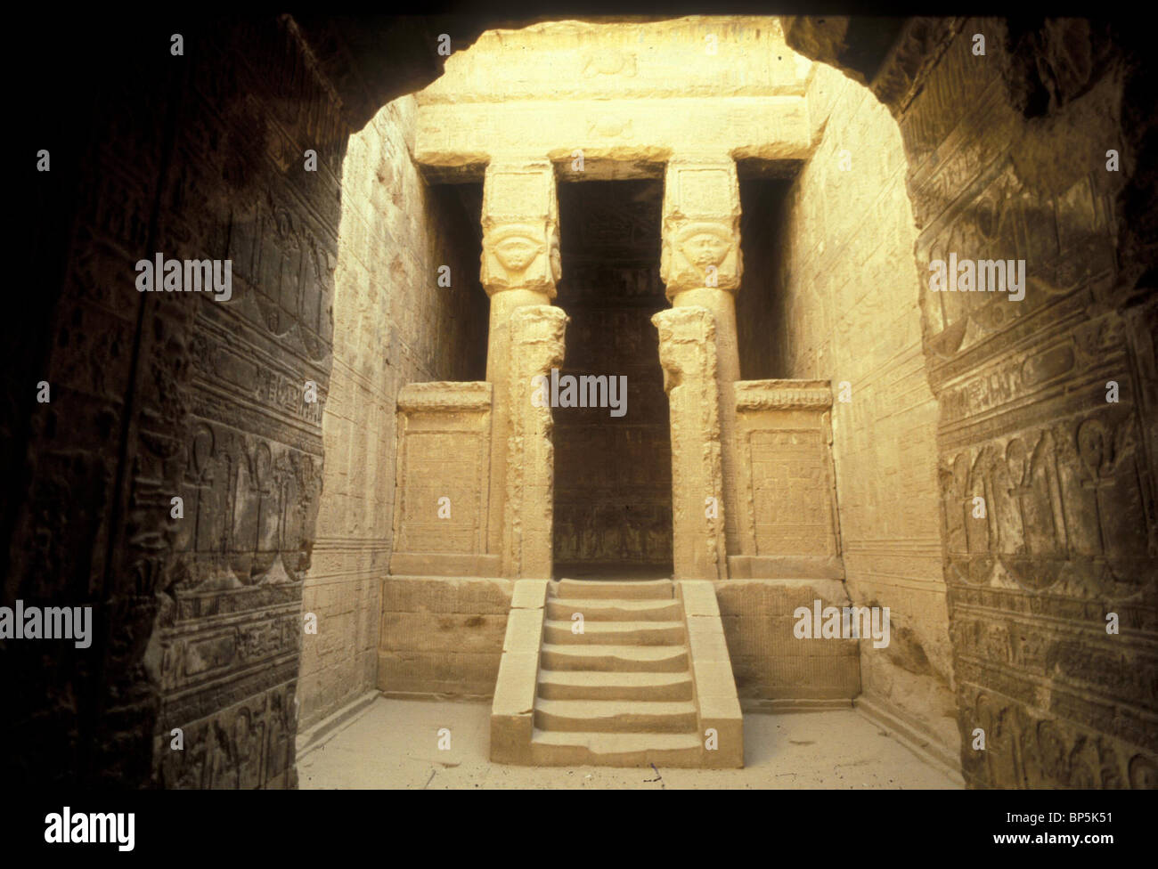 DANDARAH was the capital of the sixth province of pharaonic Upper Egypt & was dedicated to the sky & fertility - Stock Image