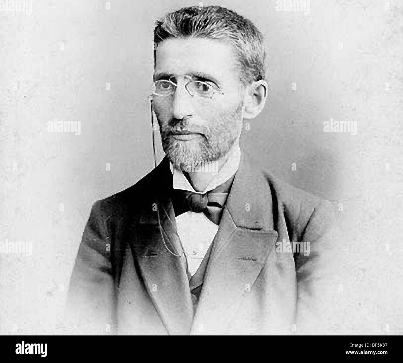 Ben Yehudah Eliezer Jewish scholar & leader b. Lithuania. He settled in Palestine as early as 1881 where he dedicated Stock Photo