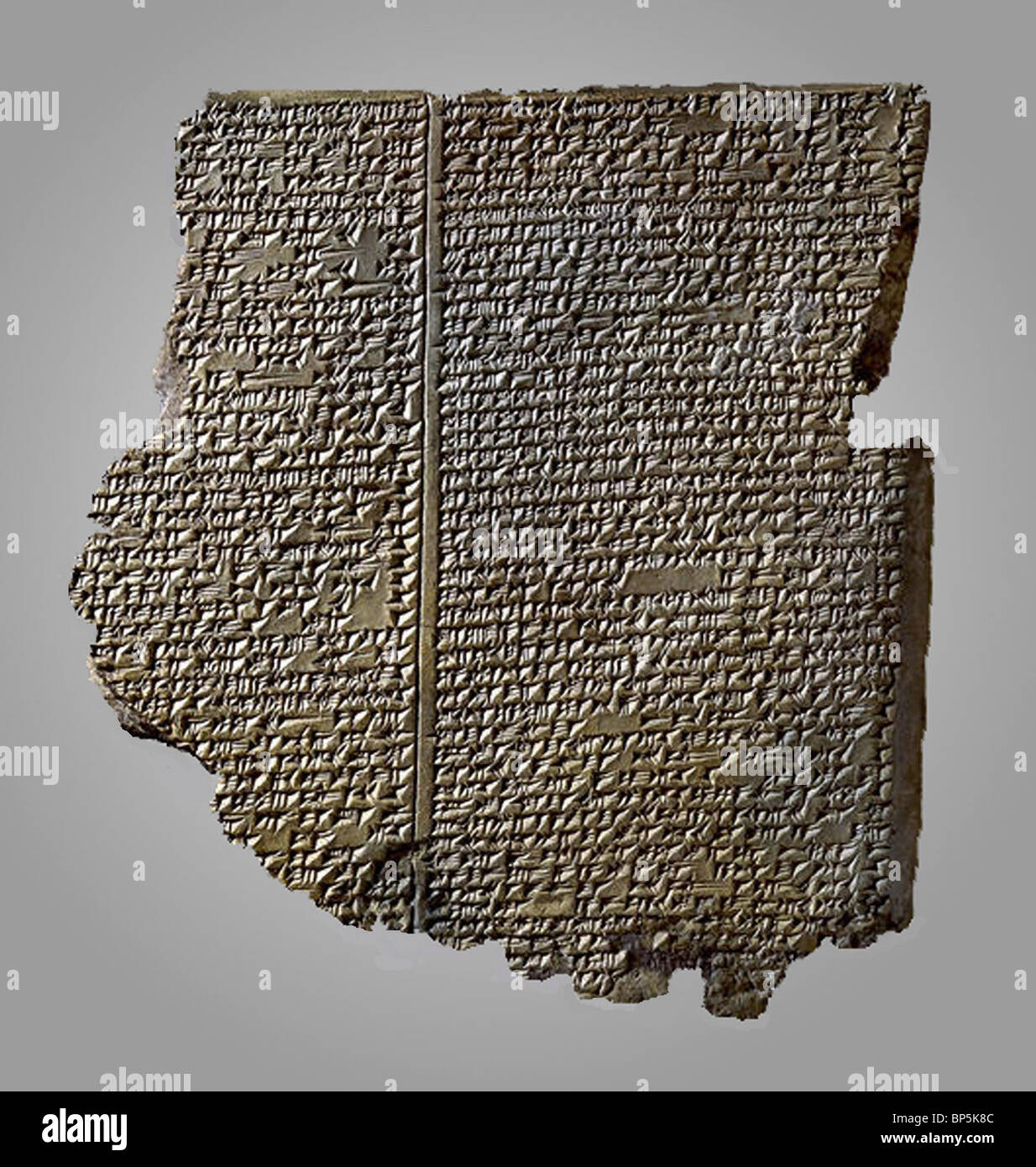 4883. THE BABYLONIAN EPIC OF GILGAMESH DATING FROM THE 15TH. C. BC, DESCRIBIBG A BIG FLOOD WHICH OCCURRED AT THAT - Stock Image