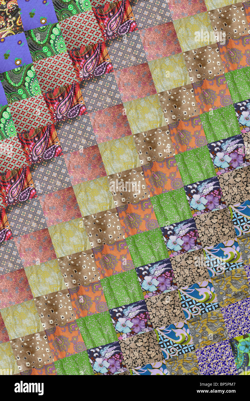 Patchwork square pattern - Stock Image