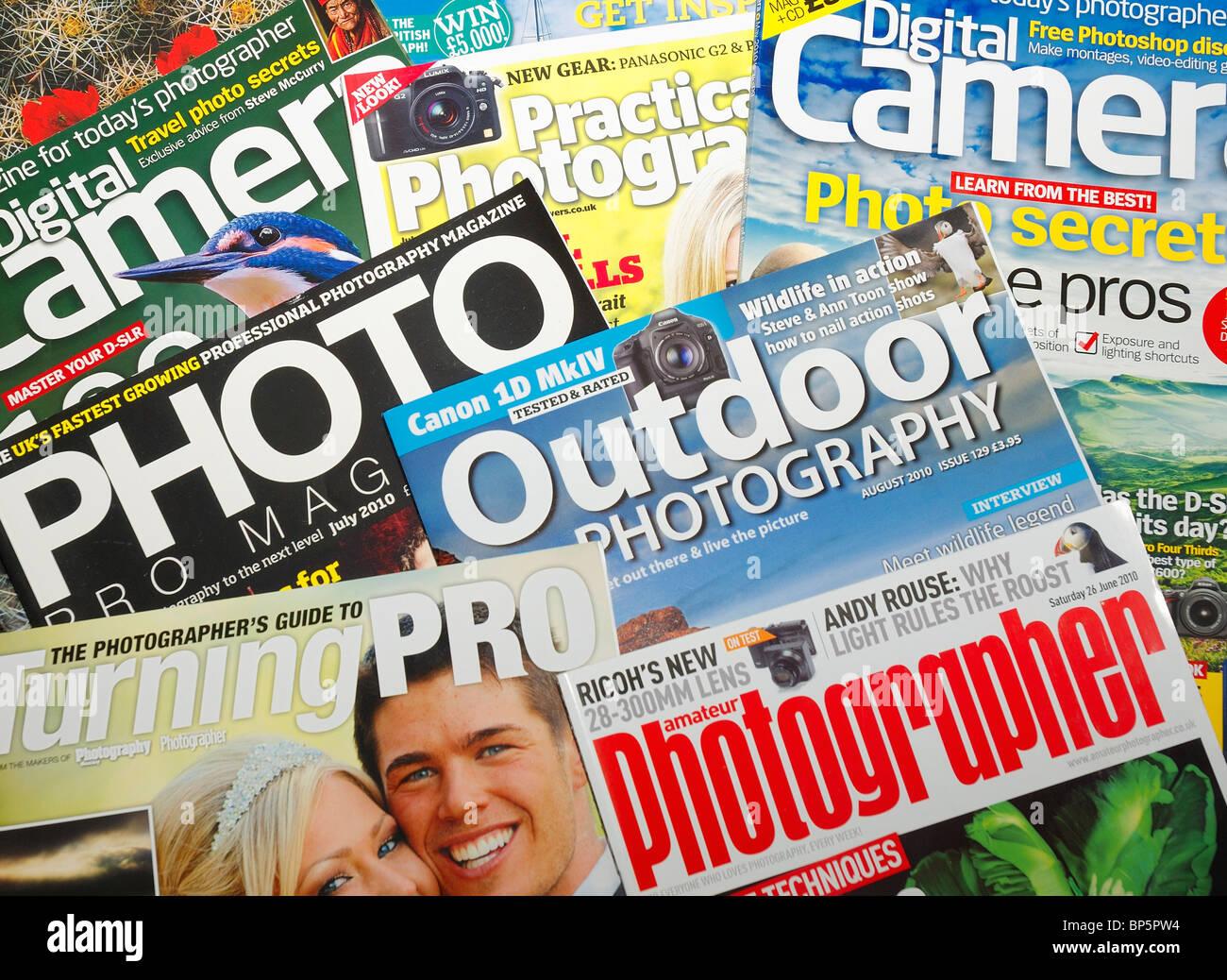 British photography magazine publications england uk - Stock Image