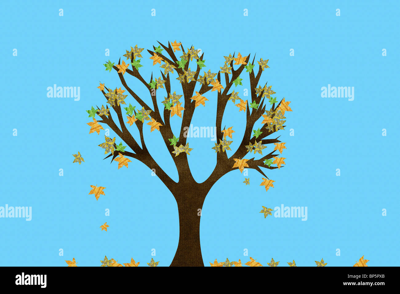 Tree in autumn - Stock Image