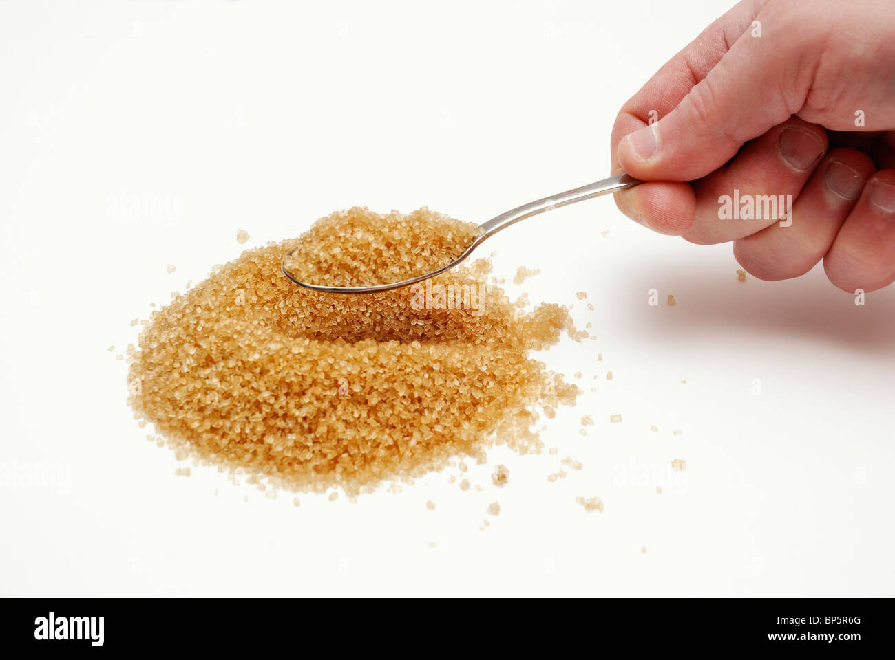 A pile of Brown sugar - Stock Image