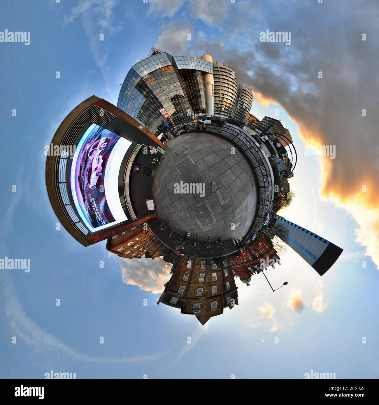Old street london with little planet effect - Stock Image